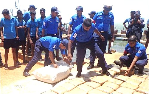 Image result for Navy recovers 284.5kg Kerala Cannabis floating in sea